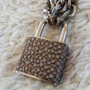Henri Bendel Lock Necklace
